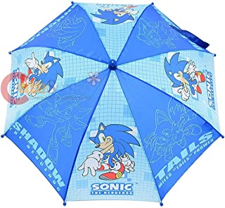 Sonic The Hodgehog Kids Umbrella with 3D Figure Handle (Tail, Knuckles, Shadow & Dr Eggman)