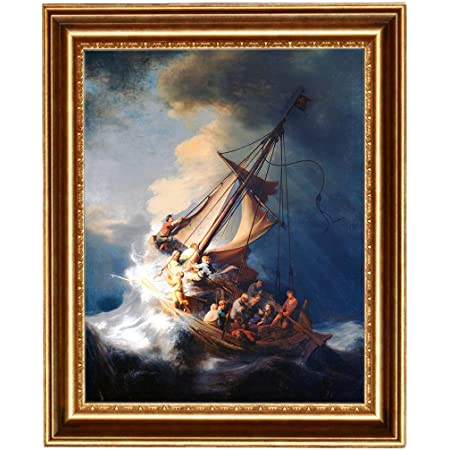 Eliteart Cristo En Una Tormenta En El Mar De Galilea Por El Pintor Holandés De La Edad De Oro Rembrandt Van Rijn Pintura Al óleo Reproducción Giclée Arte De La Pared Lienzo