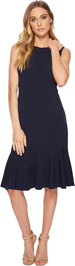Adrianna Papell - Knit Crepe Flounce Dress