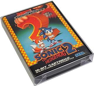 Link-e : 10 X Boitier de protection plastique pour boite de jeu compatible avec console SEGA Megadrive/Genesis et Master S...