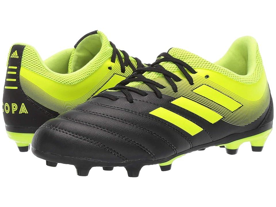 adidas Kids Copa 19.3 FG Soccer (Little Kid/Big Kid) (Black/Solar Yellow) Kids Shoes