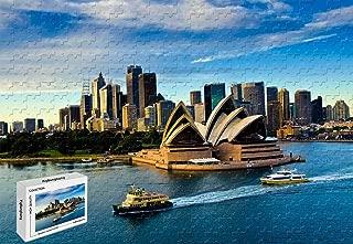 300 Piece Jigsaw Puzzle - Sydney Opera House Australia Premium Basswood Materials Bright Color,20.6 X 15.1 Inch