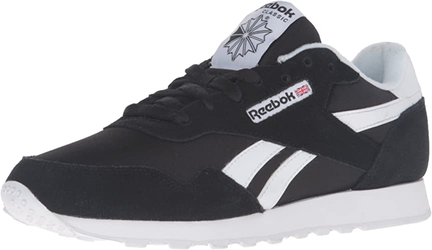 Reebok Wohommes Royal Nylon Walking chaussures, noir blanc, 9 M US