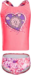 DAYU Girls Cross-Back Swimwear Tankini Two Piece Swimsuit