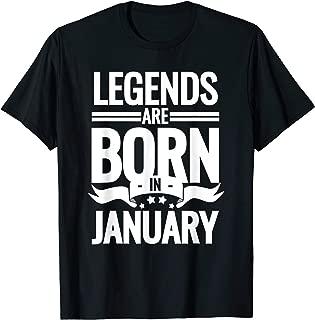 born in january t shirt