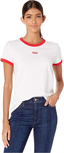 Levi's Text Chest Red Ringer