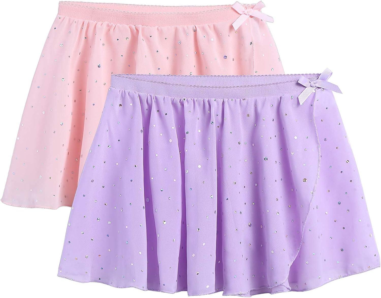 Zaclotre Girls Ballet Dance Skirt Chiffon Wrap Dancewear 2-Pack: Clothing, Shoes & Jewelry