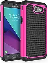 Case for Samsung Galaxy J3 Emerge / J3 2017 / J3 Prime / J3 Mission / J3 Eclipse / J3 Luna Pro/Sol 2 / Amp Prime 2 / Express Prime 2, SYONER [Shockproof] Defender Phone Case Cover [Pink]
