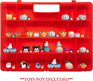 Life Made Better, Strong Protective Red Display & Toy Holder, Compatible with Tsum Tsum Mini Toys, Portable Kid Toy Accessory Case