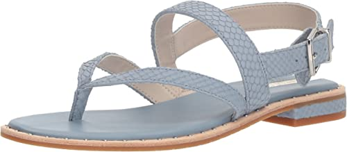 Kenneth Cole New York Wohommes Tama Flat Thong Sandal with Backstrap, Storm, 8 M US