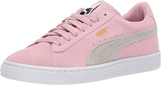 PUMA Baby Suede Classic Sneaker, pale pink-gray violet, 5 M US Toddler