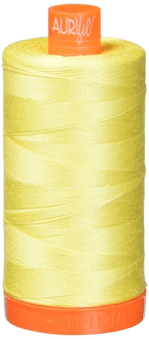 Aurifil Mako Cotton Thread Solid 50wt 1422yds Lemon