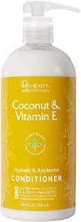 RENPURE Plant Based Coconut & Vitamin E Deep Conditioner for Dry Damaged Hair - Sulfate Free, Paraben Free & Color Safe - Naturally Moisturizing Coconut Hydrating Conditioner for Men & Women
