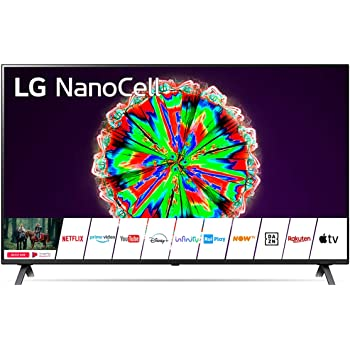 LG NanoCell TV AI 55NANO806NA.APID, Smart TV 55 Pollici, 4K Ultra HD, Nano Color, Local Dimming, FILMMAKER MODE, Google Assistant e Alexa integrati