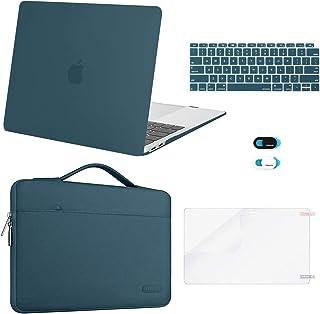 MOSISO MacBook Air 13 inch Case 2020 2019 2018 Release A2337 M1 A2179 A1932,Plastic Hard Case&Bag&Keyboard Skin&Webcam Cov...
