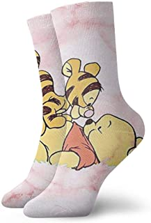Lroris, Calcetines especiales de Navidad para deportes de juventud, Winnie y Tigger Crew calcetines para exteriores para niños y niñas