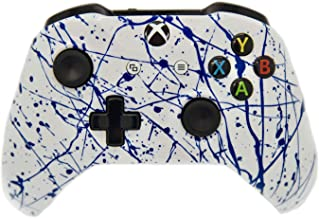 Hand Airbrushed Color Burst Xbox One Wireless Custom Controller Compatible with Xbox One (Blue/White)
