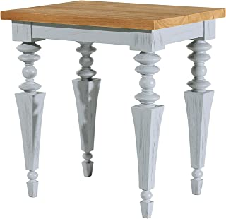 Asta Solid Wood End Table, Side Table, Glam Collection, GG-301/GRY (Gray)