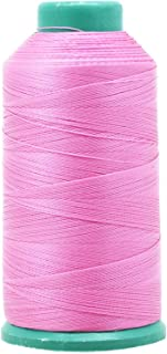 Mandala Crafts Bonded Nylon Thread for Sewing Leather, Upholstery, Jeans and Weaving Hair; Heavy-Duty; 1500 Yards Size 69 T70 (Pink)