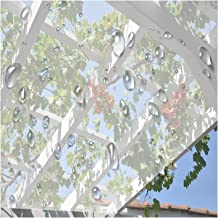 PENGFEI Transparant dekzeil Heavy Duty, waterdicht PVC Clear Tarp Cover met Oogje, 0,3 MM zacht glas balkon regengordijn v...