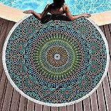 Leo-Shop Rundes BadetuchGeometrisch Traditionell Nahöstlich MarokkanischPool Strand Werfen Schnell Schnell Trocken Dünn Yoga Picknick Teppich Matte