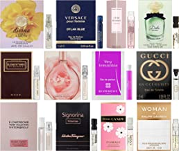 Floral Perfume Sampler Lot x 12 Sample Vials - High End Fragrance Samples for Women