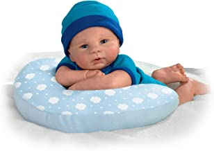 The Ashton-Drake Galleries Violet Parker Lifelike Weighted and Poseable Baby Doll with Pillow