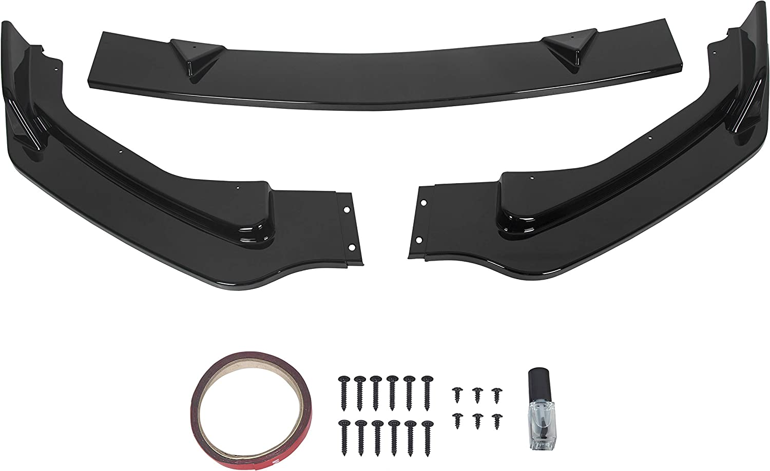 HECASA Front Bumper Lip Spoiler 2014-20 with Splitter Inexpensive Compatible Sale special price