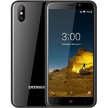 DOOGEE X50 Telefonos Movils Libres, (Android GO) Android 8.1 Smartphones Libres Doble Sim 3G, 5,0 Pantalla, 1GB RAM 8GB ROM, Batería 2000mAh, Cámara Doble 5MP, Desbloqueo Facial, Negro: Amazon.es: Electrónica