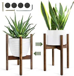 Soporte para Plantas,Mediados de Siglo Soporte para Macetas Estantería de Flores/Plantas para Interiores 1pcs 8 Pulgadas/21cm (Planta y Maceta NO Incluidas)