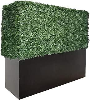"Artigwall Faux Boxwood Hedge Divider Wall with Planter 33""H48""L12 D Room Divider"
