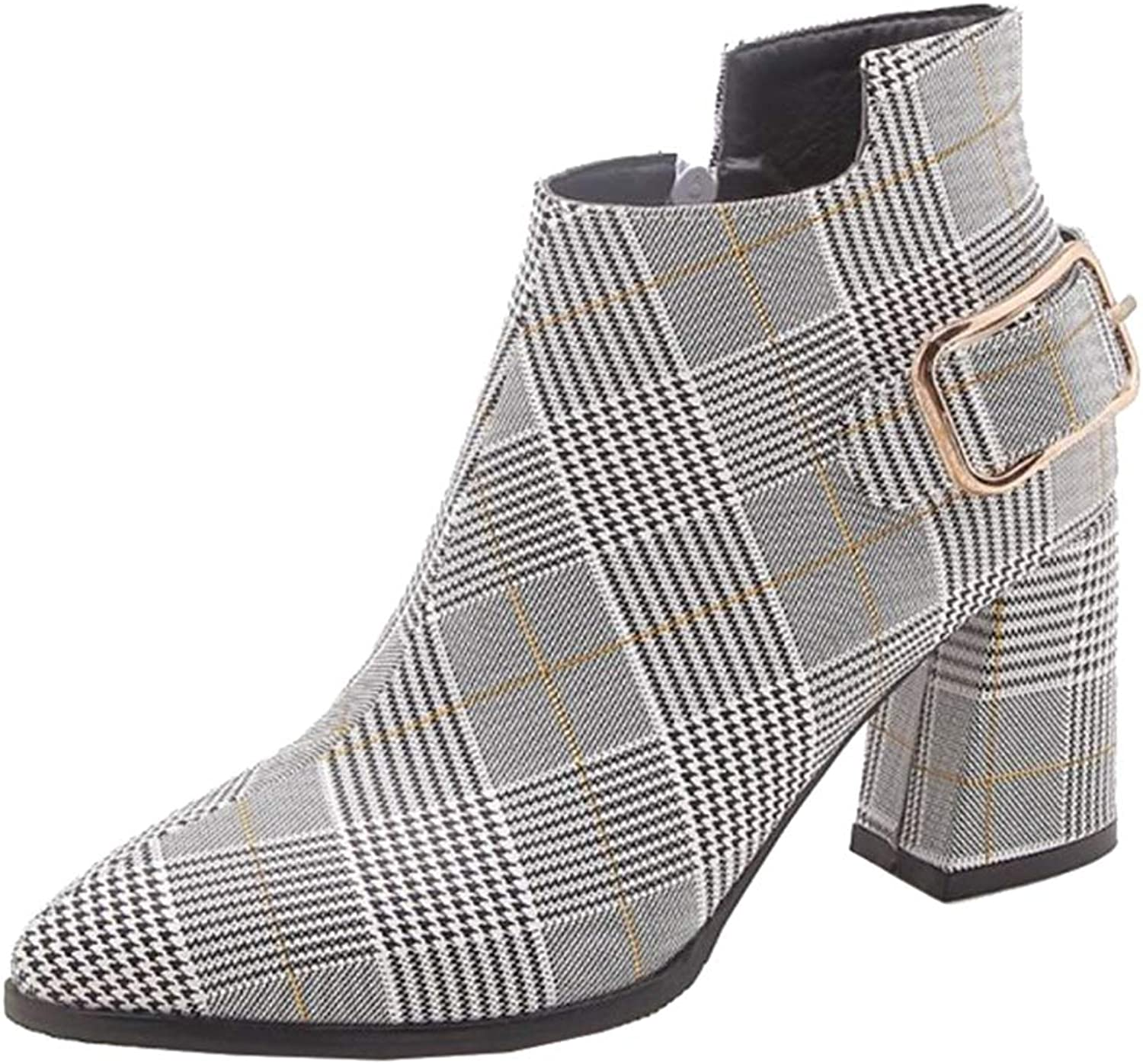 Onewus Women Ankle Chelse Boots