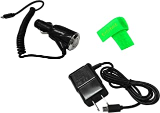 2 AMP Car Charger + Wall Travel Home Charger For Plum Gator 4 Z406 (2017) (Combo Charger)