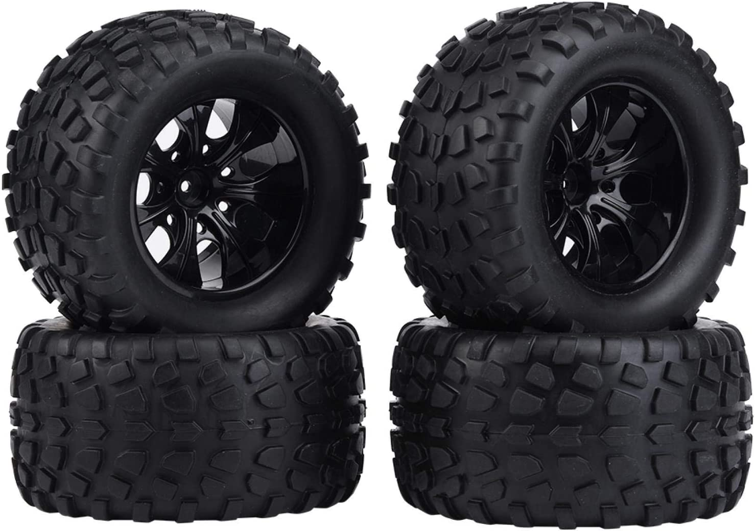 EVTSCAN RC Wheel andTire 4pc Tire Rubber Under blast sales Set 1:10 Max 47% OFF