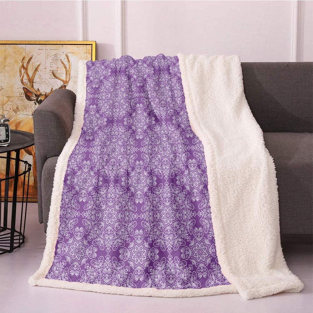 SeptSonne Purple 5 ☆ very popular Boston Mall Mandala Fleece Throw Classic Style Vict Blanket