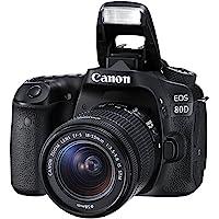 Canon EOS 80D EF-S 18-55 & EF-S 55-250 IS STM Bundle Refurb