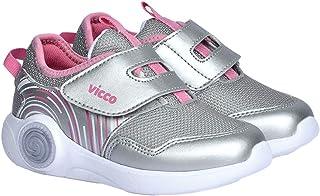 Vicco 346.20Y.213 Günlük Cırtlı Kız/Erkek Çocuk Spor Ayakkabı Gümüş