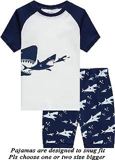 Boys Pajamas 100% Cotton Lion Short Kids Snug Fit Pjs Summer Toddler  Sleepwear da25f1868