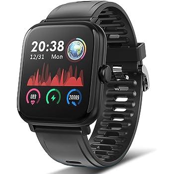 Reloj inteligente, rastreador de fitness, monitor de presión arterial, medidor de oxígeno en la sangre, monitor de frecuencia cardíaca, reloj inteligente compatible con teléfonos iPhone y Android.: Amazon.es: Electrónica