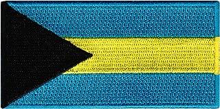 Bahamas Flag Embroidered Patch Bahamian Islands Iron-On National Emblem