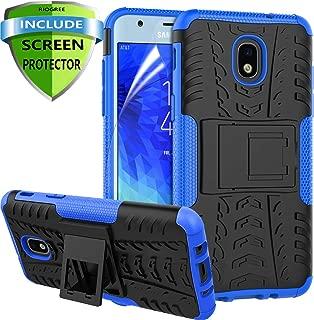 RioGree for Samsung Galaxy J3 Achieve Case, J3 Star/J3 V 3rd Gen/J3 Orbit/J3 Express Prime 3 Phone Case, for Galaxy J3 2018/ Sol 3/Amp Prime 3, with Screen Protector Kickstand Cover Skin, Blue