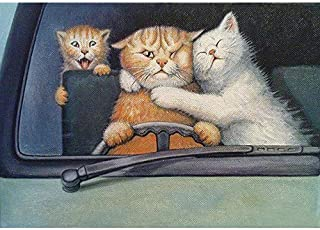 Clearance! 5D Diamond Painting by Number Kit, Xizhendai DIY Diamond Embroidery Painting Cross Stitch Kit Cat Rhinestone Embroidery Painting DIY Art Craft Canvas Wall Decor (Cat, 30x40cm)