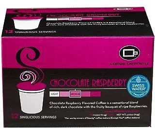 Coffee Beanery Chocolate Raspberry SWP Decaf Singlicious Servings Single-cup Coffee Pack Sampler for Keurig