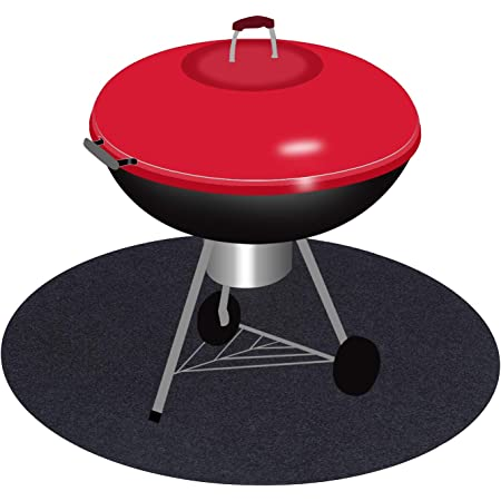 Fireproof Heat Mat Pad Floor Protective Rug For Resistant BBQ Barbecue Gas Gril