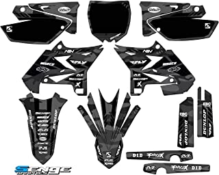 Senge Graphics kit compatible with Yamaha UFO RESTYLED 2002-2004 YZ 125/250 (2-Stroke), Apache Grey Complete Graphics Kit