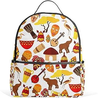 ANINILY Backpack For Girls, Africa Jungle Ethnic Tribe Backpack College Bags Women Shoulder Bag Daypack Bookbags Travel Bag