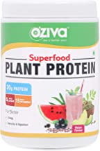 OZiva Superfood Plant Protein for Men & Women with Ayurvedic Herbs & Multivitamins for boosting Immunity & Energy, Soy Fre...