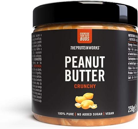Burro di arachidi | 100% burro di arachidi tostate naturali | vegano | the protein works | croccante | 250g FODPEACR250G