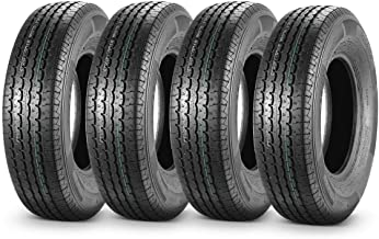 MaxAuto Set of 4 225/75R15 DOT Trailer Tires 225/75R-15 22575R15 10Ply, Load Range E