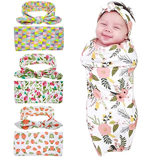 Bigface Up Swaddle Sack,Newborn Baby Sleep Blanket with Headband